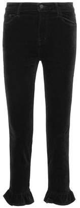 J Brand Ruby Cotton-Blend Velvet Kick-Flare Pants
