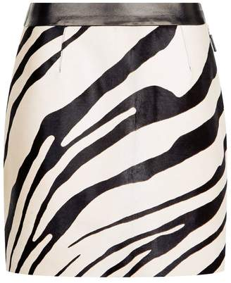 Roberto Cavalli Haircalf A-Line Mini Skirt