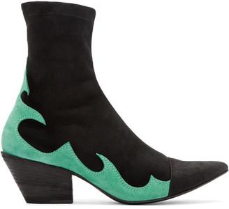 Haider Ackermann Black High Soba Boots $1,330 thestylecure.com