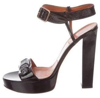 Lanvin Platform Round-Toe Sandals