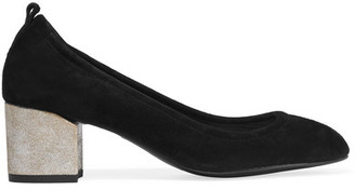 Lanvin - Suede Pumps - Black $595 thestylecure.com