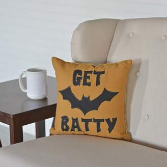 The Holiday Aisle Get Batty Throw Pillow