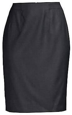 bf562a2b644 BOSS Women's Vabahana Virgin Wool Suiting Pencil Skirt - Size 0
