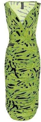 Norma Kamali Printed ruched dress