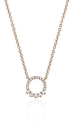 Ef Collection Women's Variated Open Diamond Circle Necklace