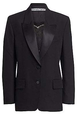 Alexander Wang Women's Safety Pin Heart Tuxedo Blazer