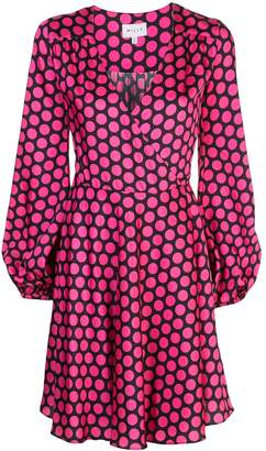 Milly dotted midi dress