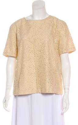 Belstaff Lace Short Sleeve Top