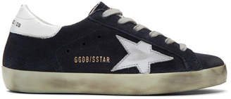 Golden Goose SSENSE Exclusive Navy Superstar Sneakers