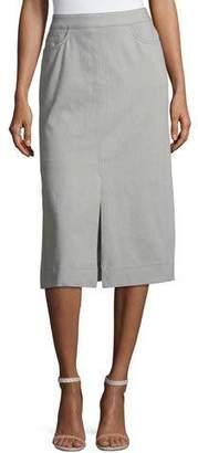 Akris Slim Stretch-Denim Skirt