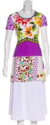 Etro Floral Short Sleeve Tunic