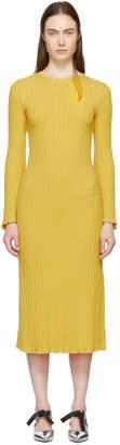 Simon Miller Yellow Stretch Wide Rib Wells Dress