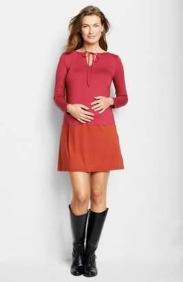Maternal America Keyhole Maternity Dress