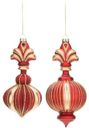 Mark Roberts Finial Ornament - Set of 2