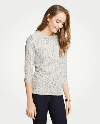 Ann Taylor Petite Marled 3/4 Sleeve Top