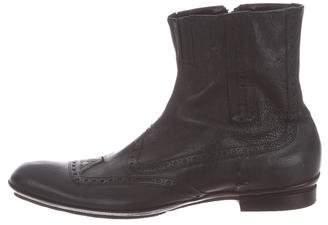 Cesare Paciotti Leather Wingtip Boots