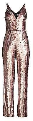 Dress the Population Women's Sequin Wide-Leg Jumpsuit