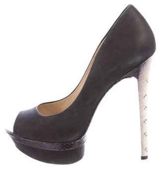 B Brian Atwood Leather Platform Pumps $95 thestylecure.com