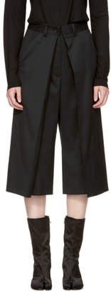 MM6 Maison Martin Margiela Black Short Suit Trousers
