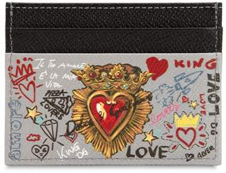Dolce & Gabbana Murales Dauphine Leather Card Holder