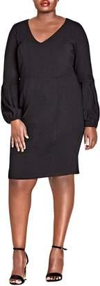 City Chic Fancy Sleeve Sheath Dress