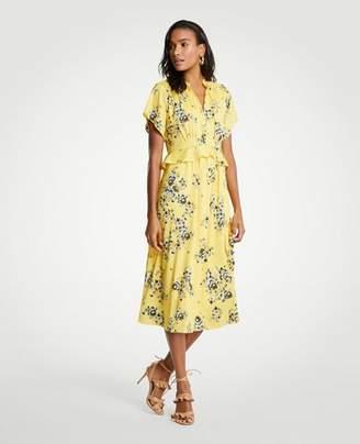 Ann Taylor Boho Floral Midi Dress