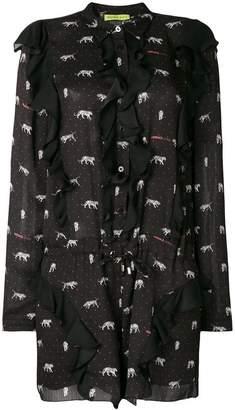 Versace ruffled tiger print playsuit