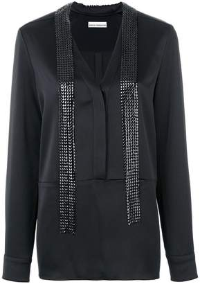 Paco Rabanne long embellished blouse