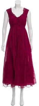 Mes Demoiselles Short Sleeve Midi Dress w/ Tags