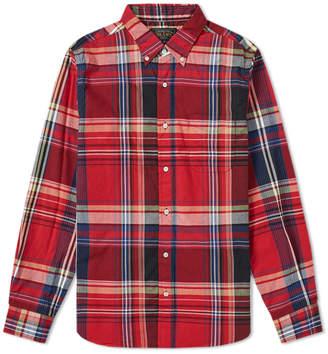 Beams Button Down Check Shirt