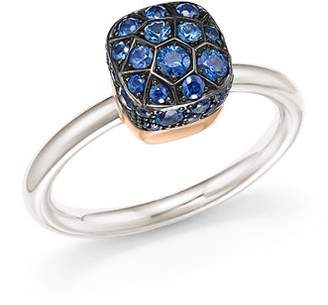 Pomellato Nudo Ring with Sapphire in 18K White and Rose Gold