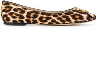 Tory Burch Chelsea leopard print ballerinas