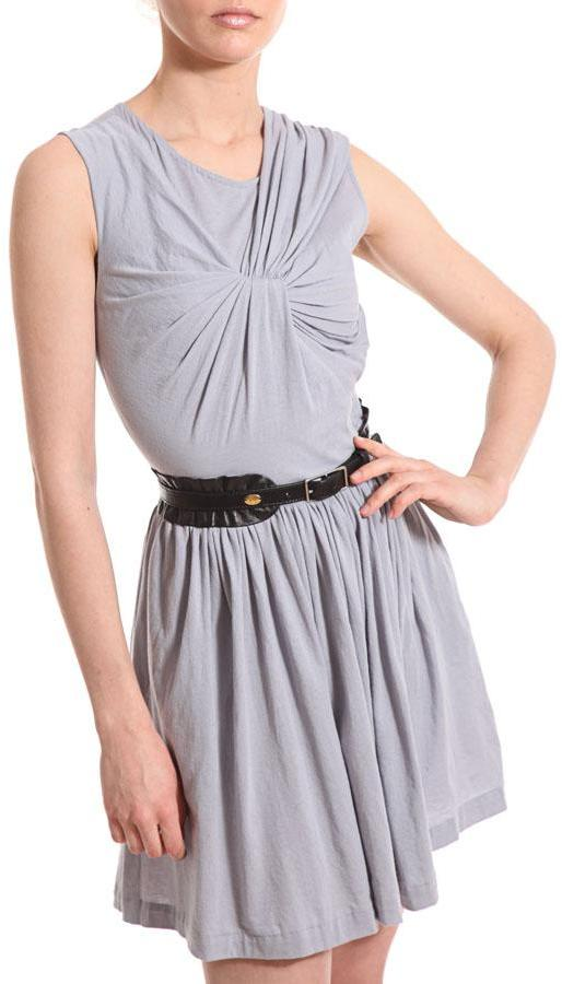 3.1 Phillip Lim Sleeveless Asym Dress In Pearl Grey