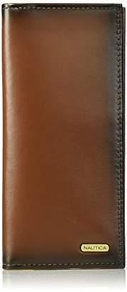 Nautica Men's Leather Secretary Checkbook Wallet Organizer