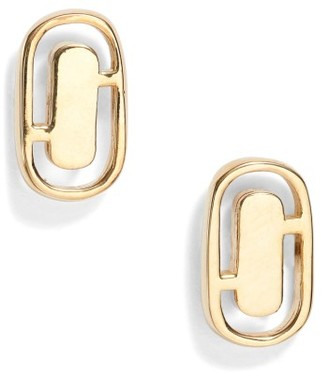 Women's Marc Jacobs Icon Cutout Stud Earrings $55 thestylecure.com