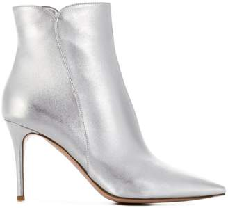 Gianvito Rossi metallic ankle booties