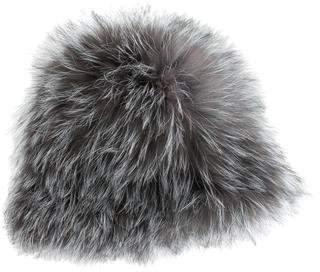 Pologeorgis Fur Knit-Lined Hat