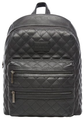Infant The Honest Company City Quilted Faux Leather Diaper Backpack - Black $149.99 thestylecure.com