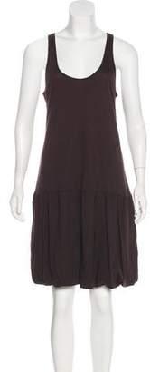 Velvet Sleeveless Knee-Length Dress