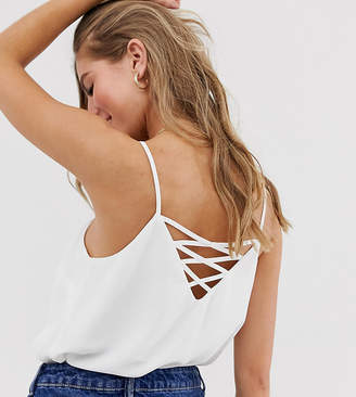 New Look multi back strap cami in white