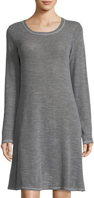 Allen Allen Long-Sleeve Slub-Knit Dress $59 thestylecure.com