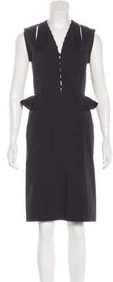 Altuzarra Lace-Up Sleeveless Dress