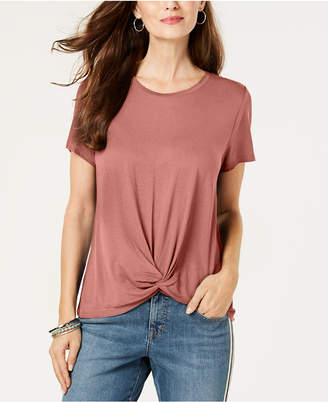 Style&Co. Style & Co Twist-Front Top