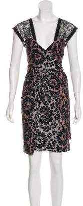 Diane von Furstenberg Lace-Trimmed Wrap Dress