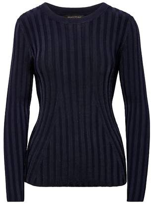 Banana Republic Petite Fitted Ribbed Crew-Neck Sweater