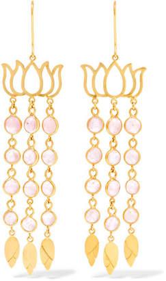 Pippa Small 18-karat Gold Tourmaline Earrings