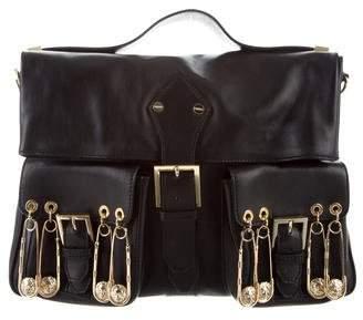 Versus Embellished Leather Crossbody Bag