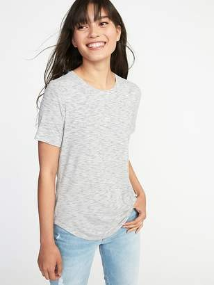 Old Navy Luxe Curved-Hem Tee for Women