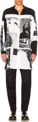 Yohji Yamamoto Printed Side Button Shirt