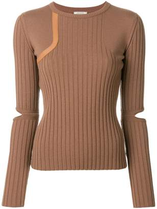 Nina Ricci cut out sleeved jumper